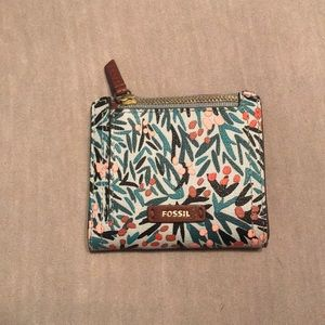 """Fossil """"Fiona"""" floral snap wallet"""